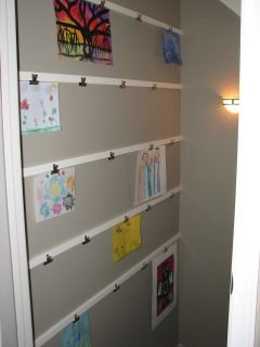 Another Idea To Hang Art Think We Might Do A Row Or Two In The Kid S Room But Have Perfect E Playroom