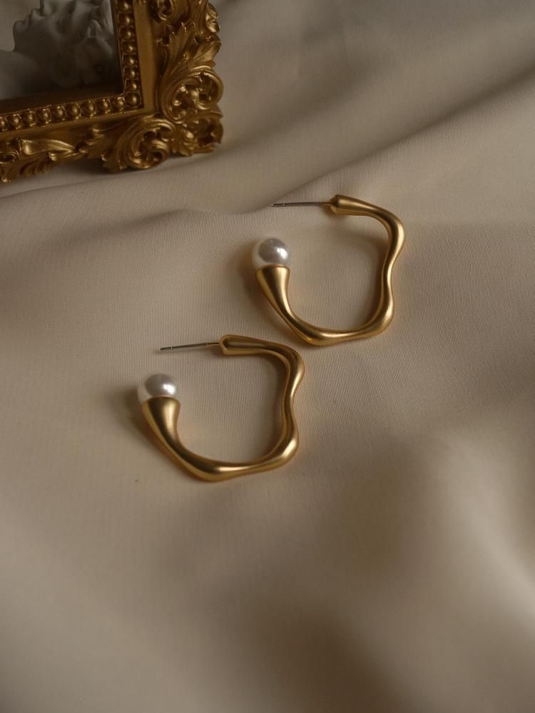 Photo of Petit Cherié (Cherry) Earrings *Gold-plated stems