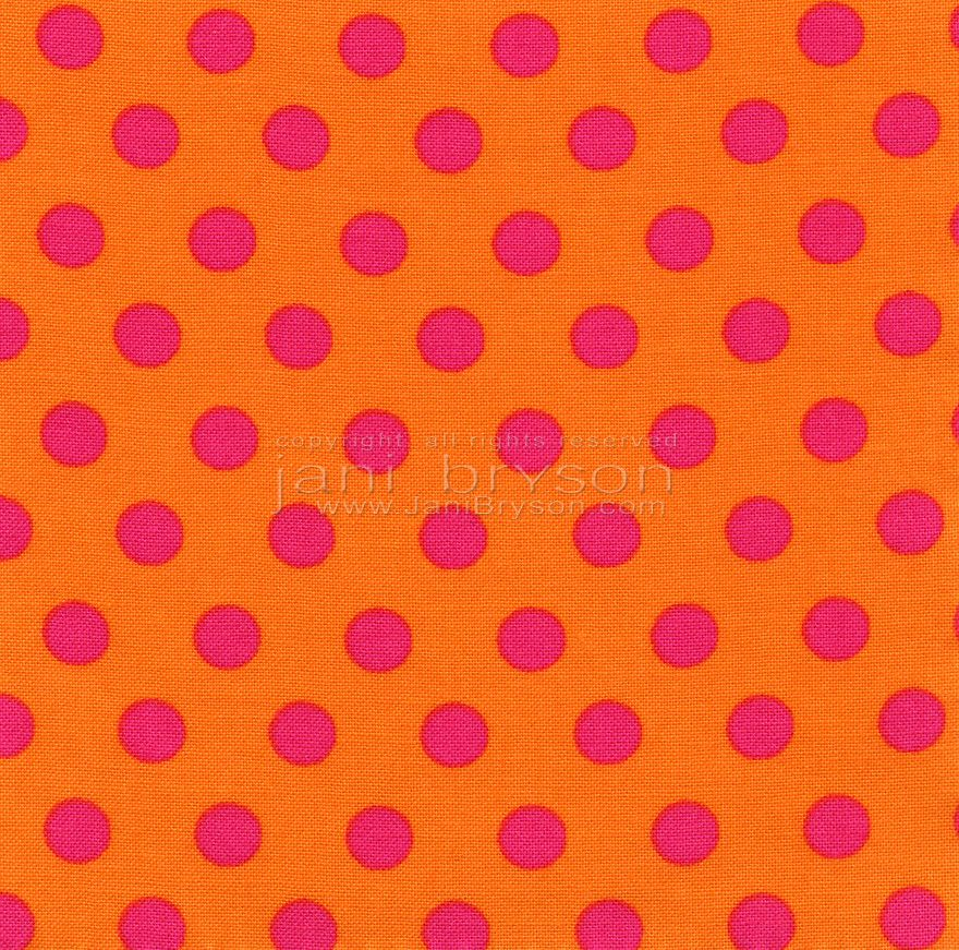 A high resolution vibrant orange fabric with bright pink ...