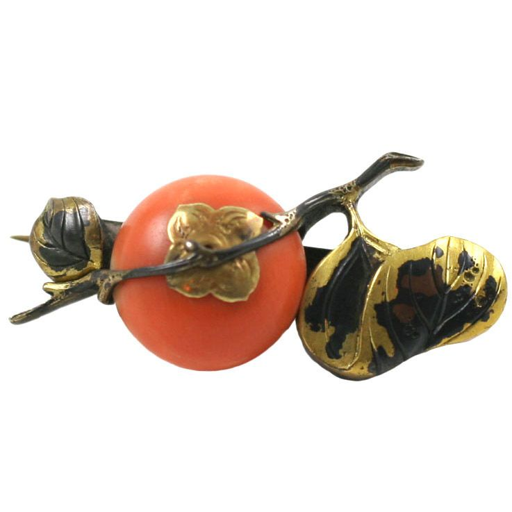 1stdibs - AESTHETIC MOVEMENT CORAL & MIXED METAL BROOCH explore items from 1,700  global dealers at 1stdibs.com