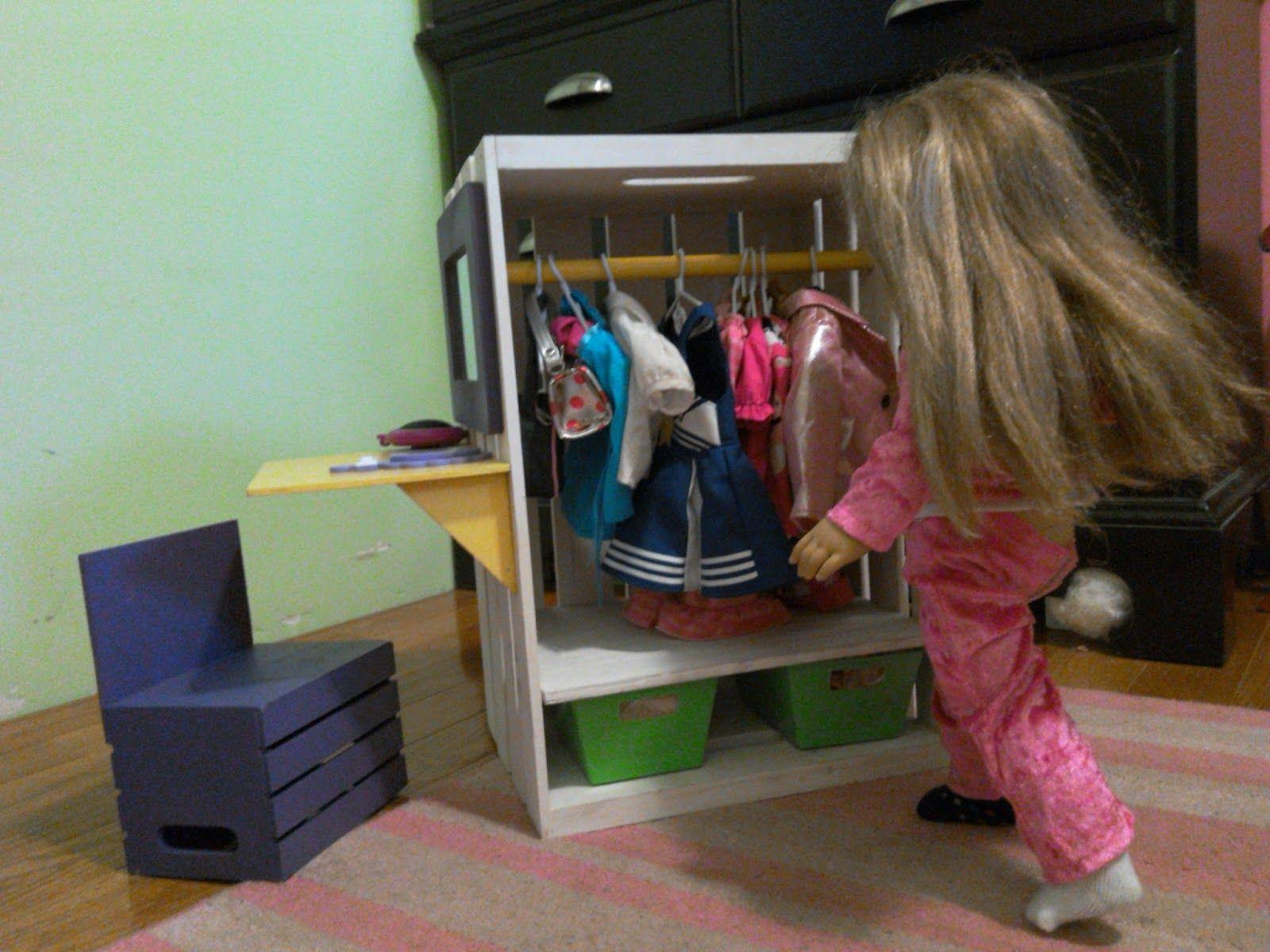 Saw It, Made it: DIY Doll Closet/Vanity