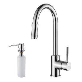 kraus premium kitchen faucet chrome 1 handle pull kitchen