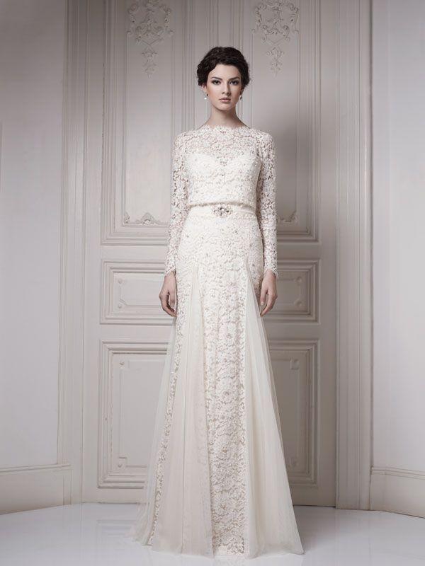 Long sleeve lace wedding dress   Luvly wedding stuff   Pinterest ...