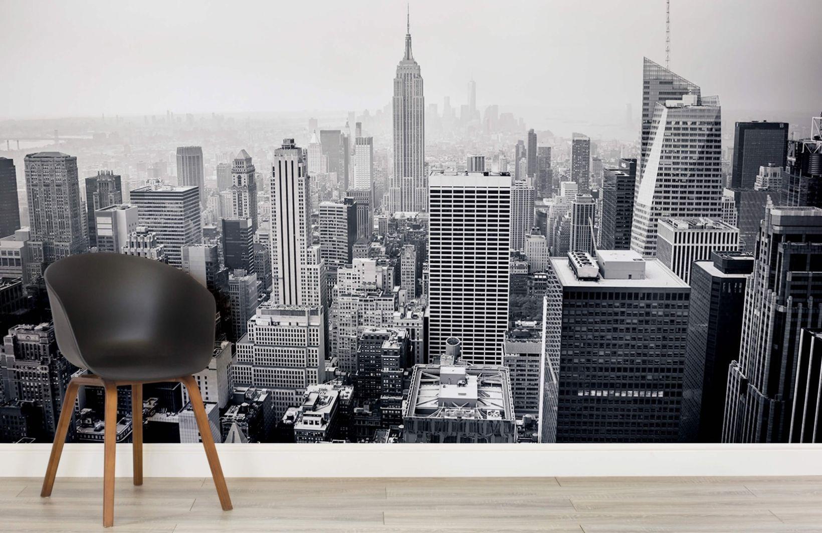 London Minimalist Wallpaper | Black & White Cityscape ...