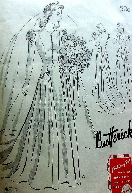 Vintage Wedding Gown Sewing Pattern | Sewing Patterns | Pinterest ...