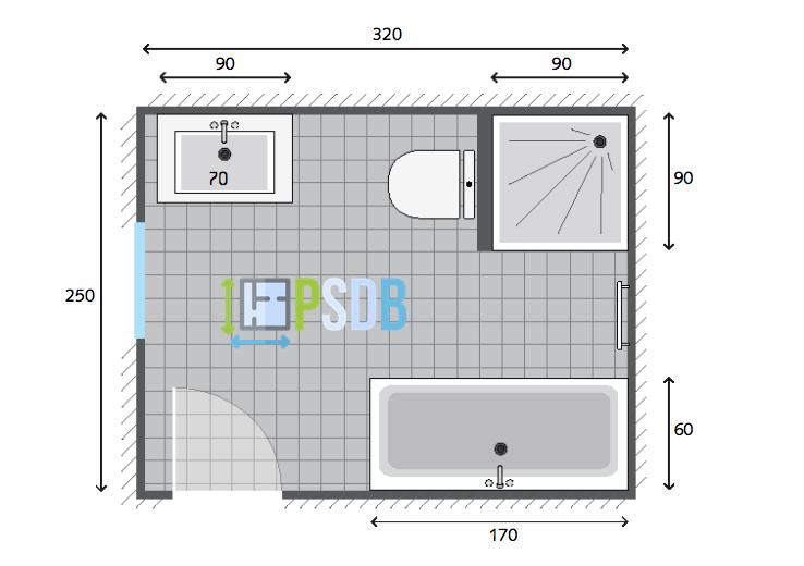 Exemple plan de salle de bain de 8m2 | SALLE DE BAINS | Plan salle ...