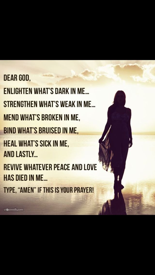 Love this, except for the cheesy last line. It can be your prayer without typing Amen. :)