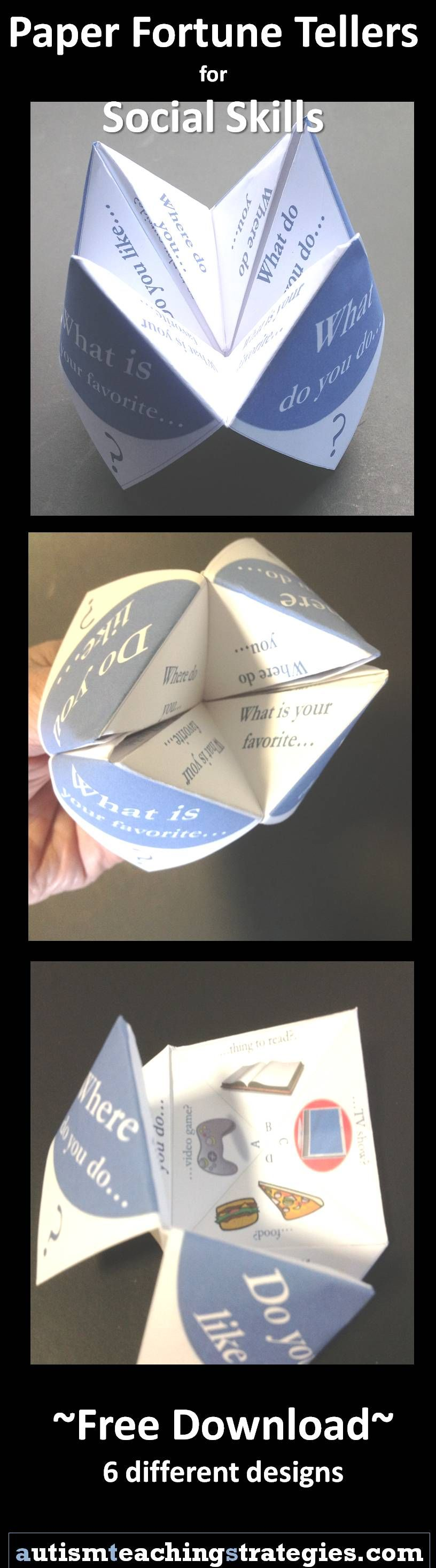 """Fold these free """"fortune tellers"""" into social skills games"""