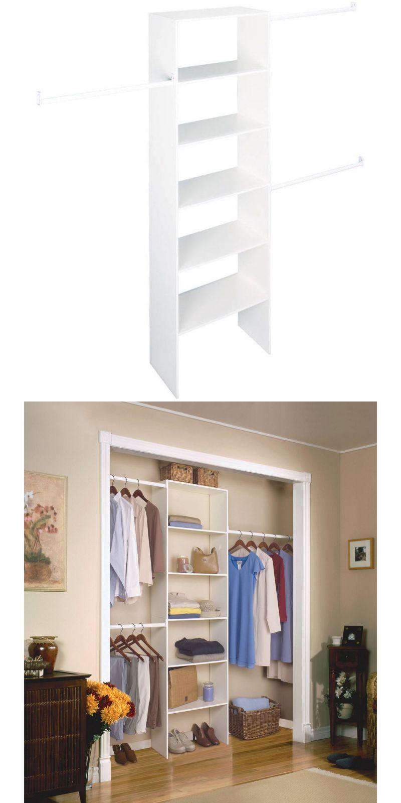 Household Items: Closetmaid Closet Organizer Storage Shelf Clothes Shelves  Hanging Rod White New  U003e
