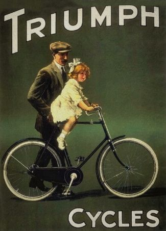 Motorbikes, cars and bicycles - now a distant memory!