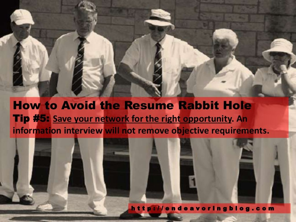 how to avoid the resume rabbit hole top 10 tips - Resume Rabbit