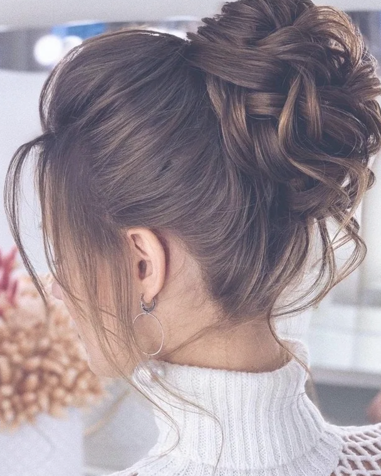76 Messy Updo Hairstyles The Most Romantic Updo To Get An Elegant Look 20 Edgy Updo Bun Hairstyles High Bun Hairstyles