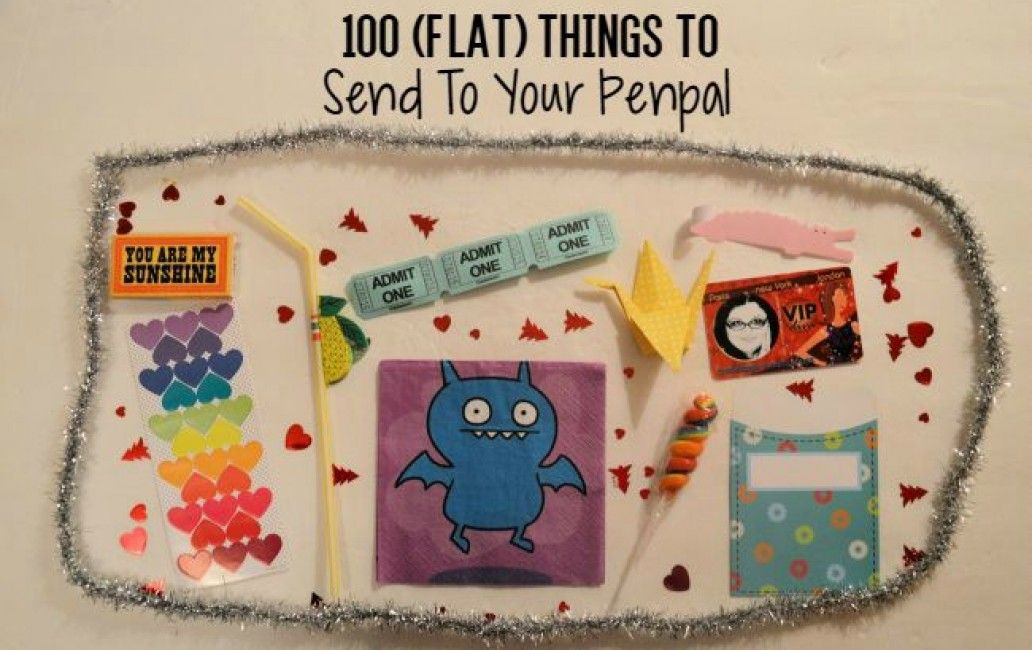 100 flat things to send to your penpals snail mail