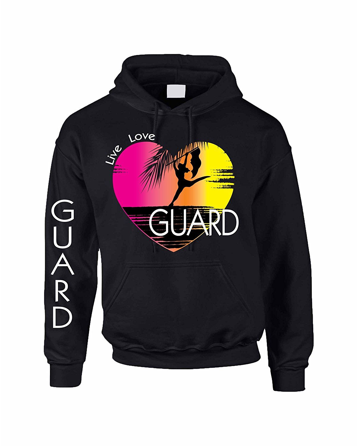 Allntrends Adult Hoodie Sweatshirt Guard Art Pink Print Love Cool -- This is an Amazon Affiliate link. Click image for more details.