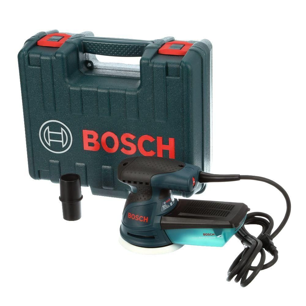 Bosch 2 5 Amp 5 In Corded Variable Speed Random Orbital Sander Polisher Kit With Hard Carrying Case Ros20vsk Best Random Orbital Sander Dust Collection System Bosch