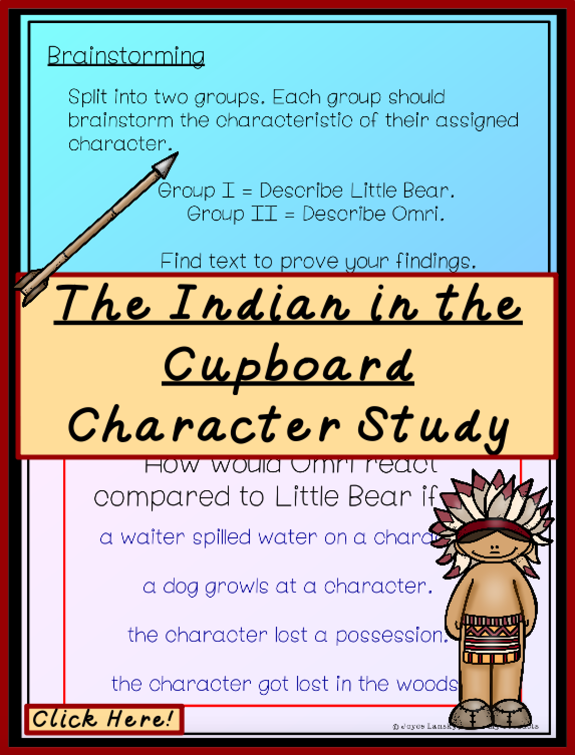 the indian in the cupboard characters