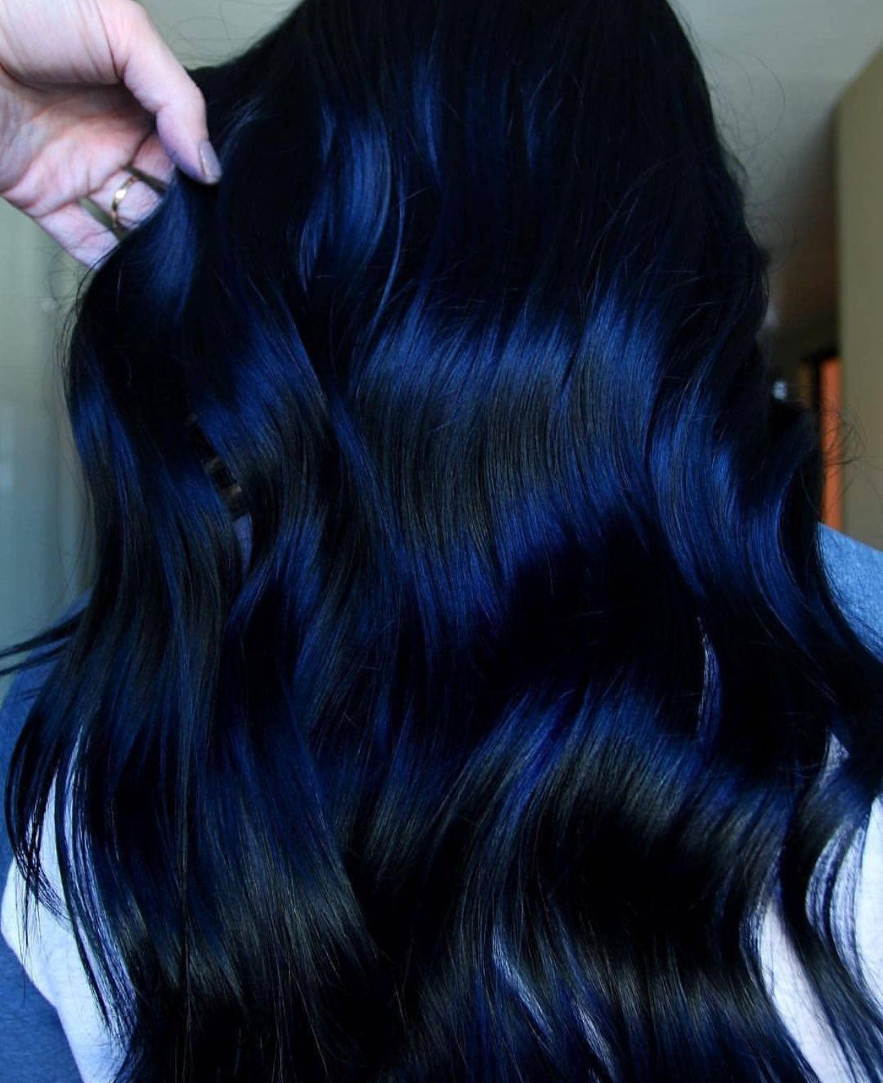 Dark Blue Hair Color For Black Hair Cool Hair Color Blue Black Hair Color