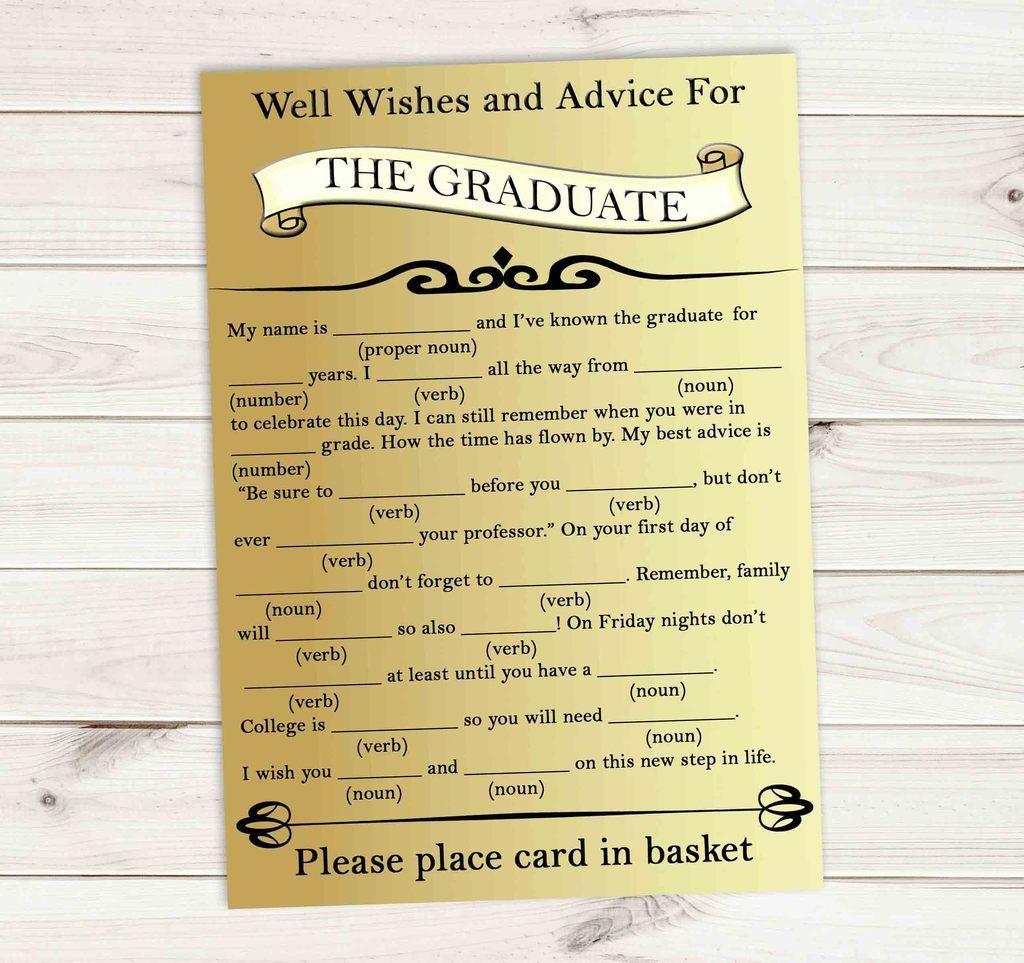Graduation Advice Games Cards Well Wishes For The Graduate