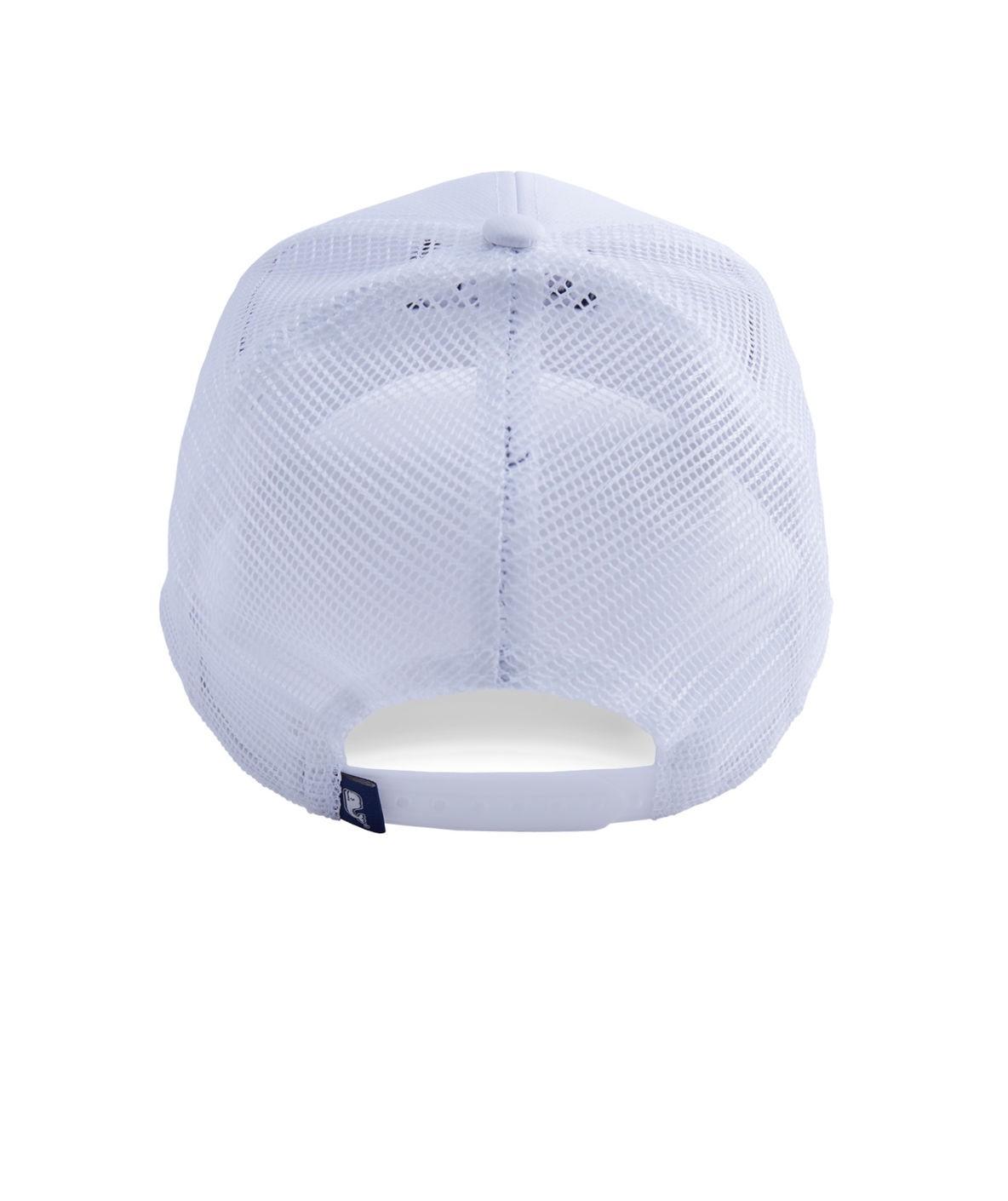 Vineyard Vines Boys Embroidered Whale Dot Performance Trucker Hat - White  Cap 1Sz ea195627d78