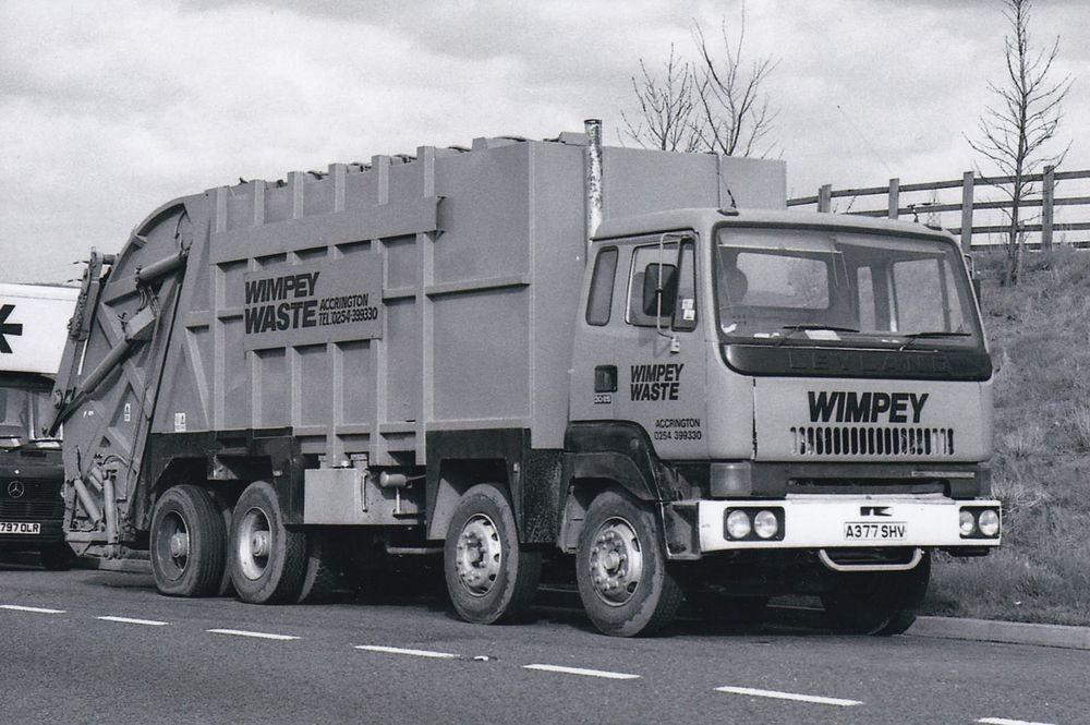 B W Photo Wimpey Waste Leyland Constructor 8 Wheel Refuse Vehicle