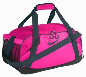 NIKE VARSITY GIRL II MEDIUM DUFFLE GYM BAG PINK  b60640ad34e47