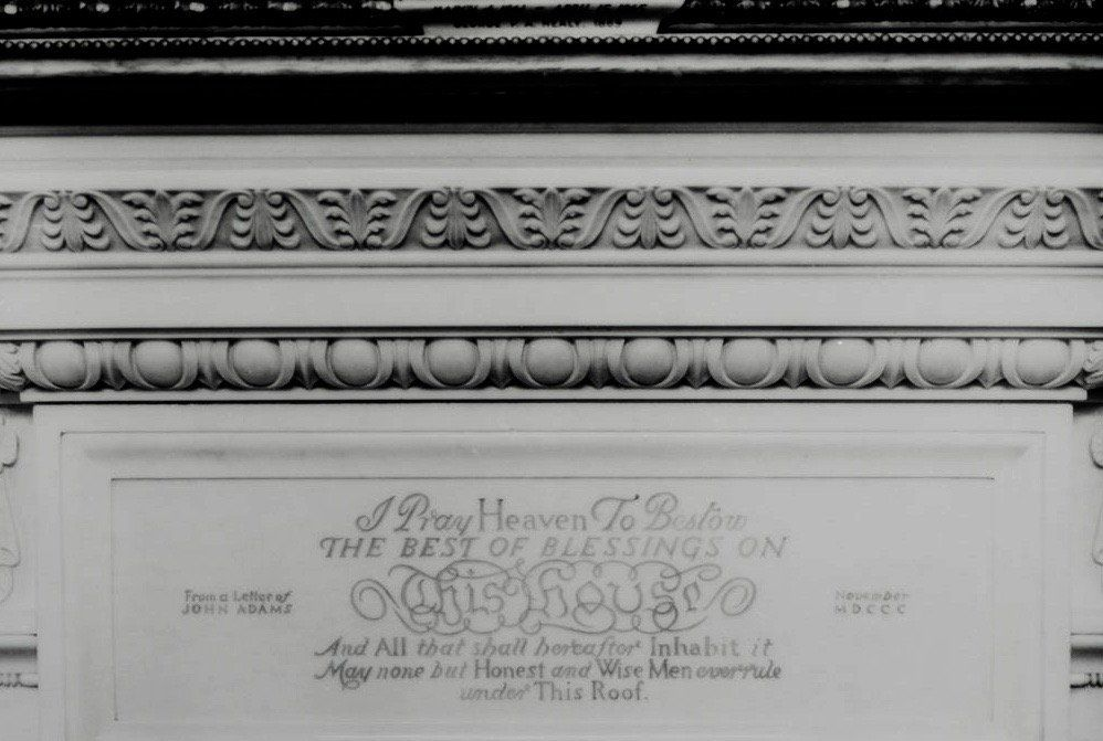 Michael Beschloss On Twitter White House State Dining Rooms Fireplace Is Inscribed With John