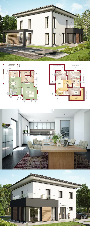 Stadtvilla concept m 193 bien zenker modernes for Grundriss modernes einfamilienhaus