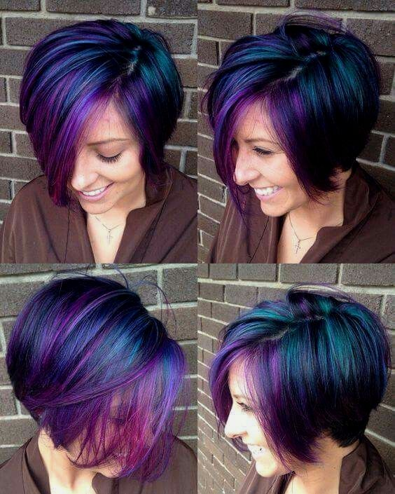 Hair Color Silver Cool Hair Color Perfect Hair Color Short Purple Hair
