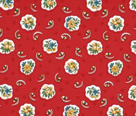 Pierre Deux Avignonet Red Wallpaper