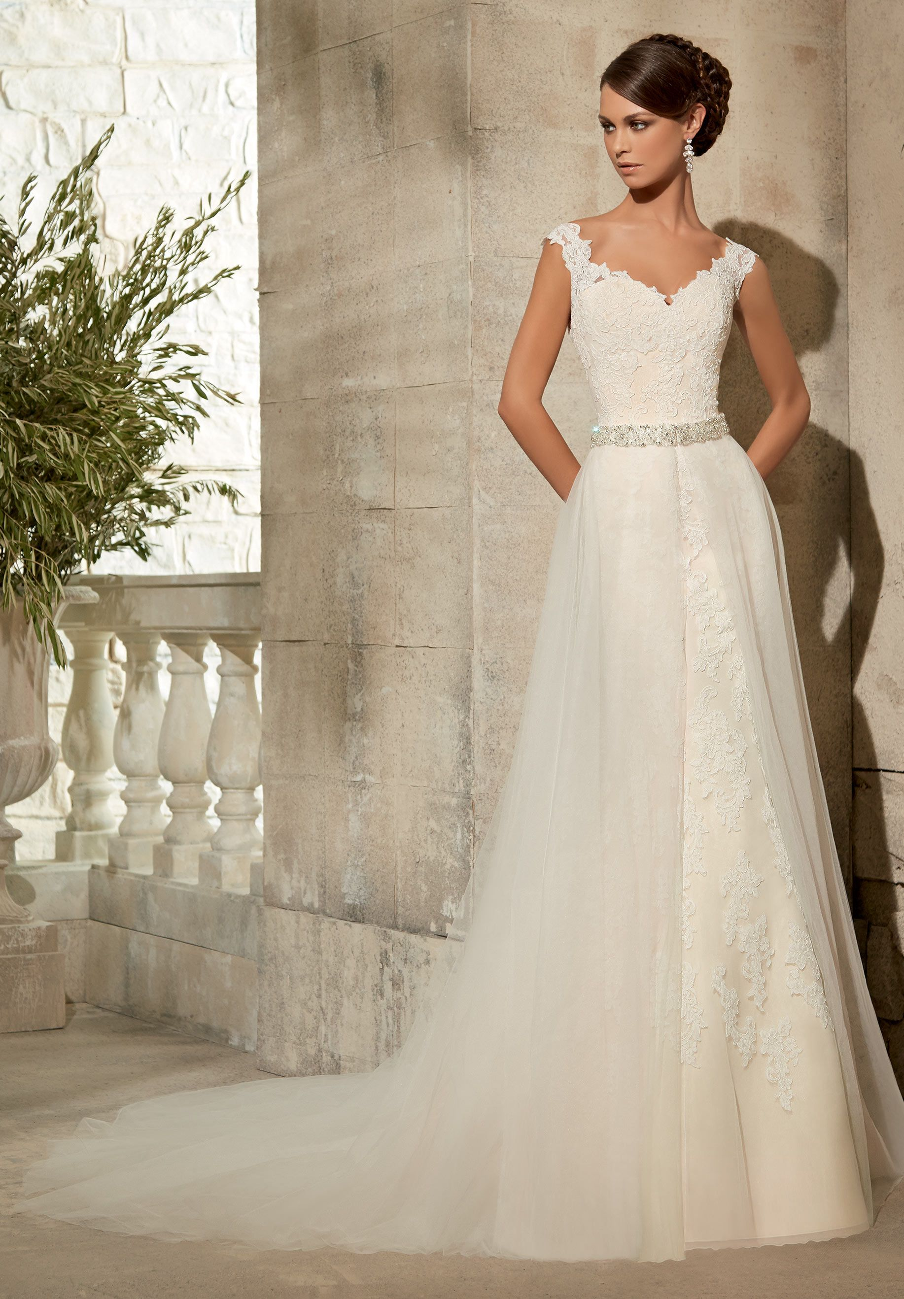 Wedding Gown Accessories TULLE OVERSKIRT WITH BEADED WAISTBAND Available in  White b7c74fdae77c