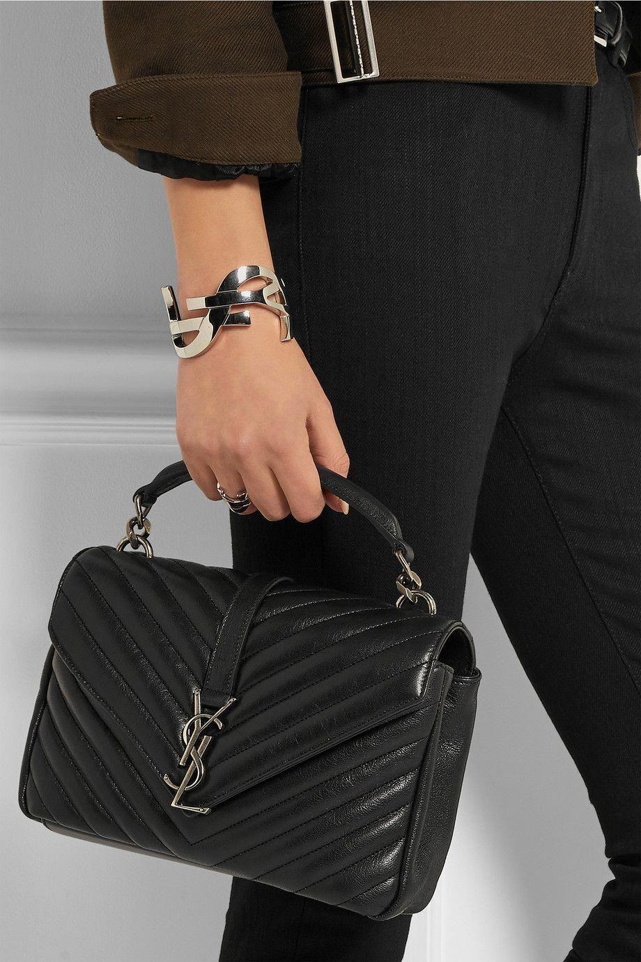 00be67bc5d Saint Laurent | Sac porté épaule en cuir matelassé Monogramme College  Medium | NET-A-PORTER.COM #Designerhandbags