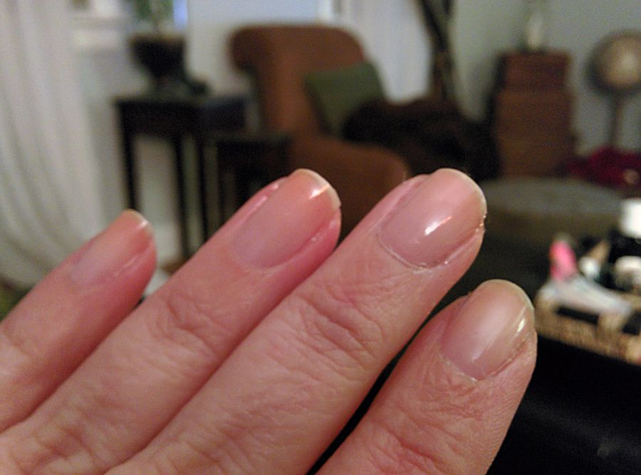 Here are my nails with just the Perfect Formula Gel Coat on. They ...