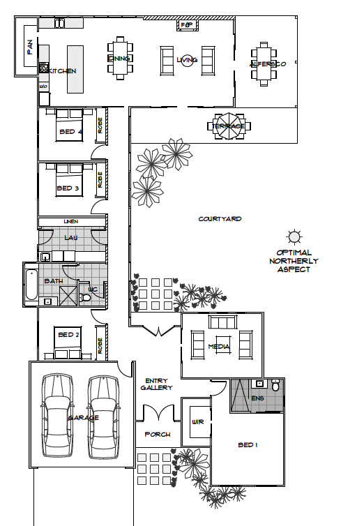 Floor Plan Friday Optimal Northerly Aspect Energy Efficient House Plans Solar House Plans House Plans Australia