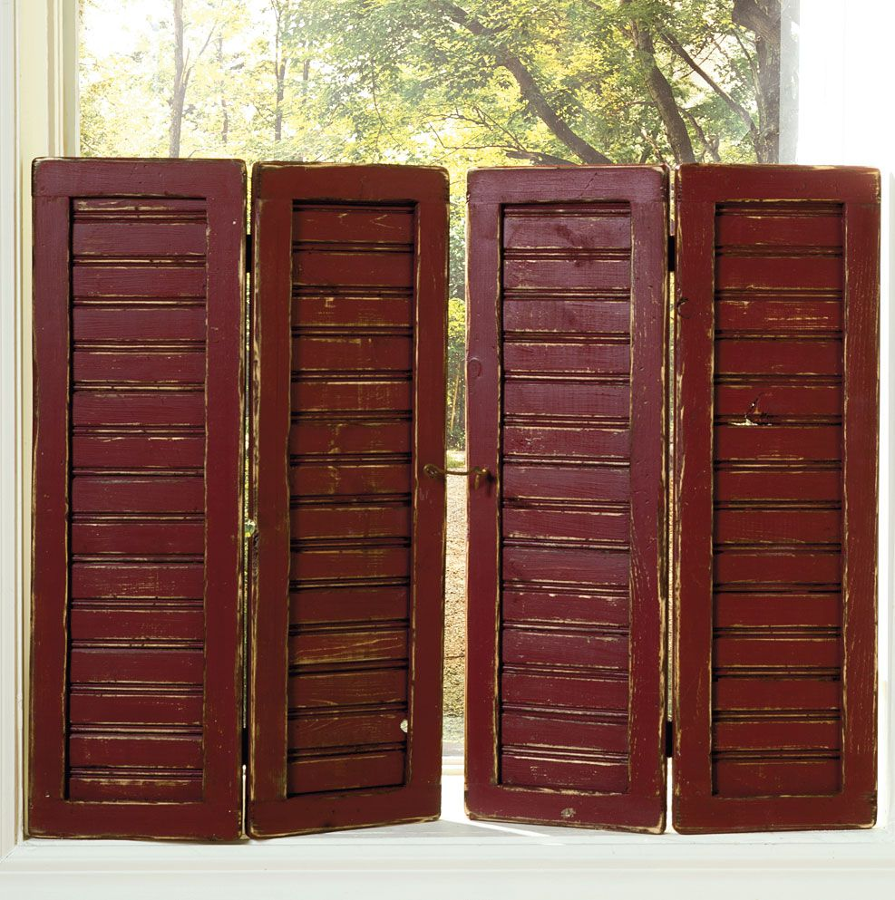 Enhance Your Windows With These Weathered Shutters Order Them At Www Sashuttermill Com See Mor Primitive Decorating Country Country House Decor Country Decor