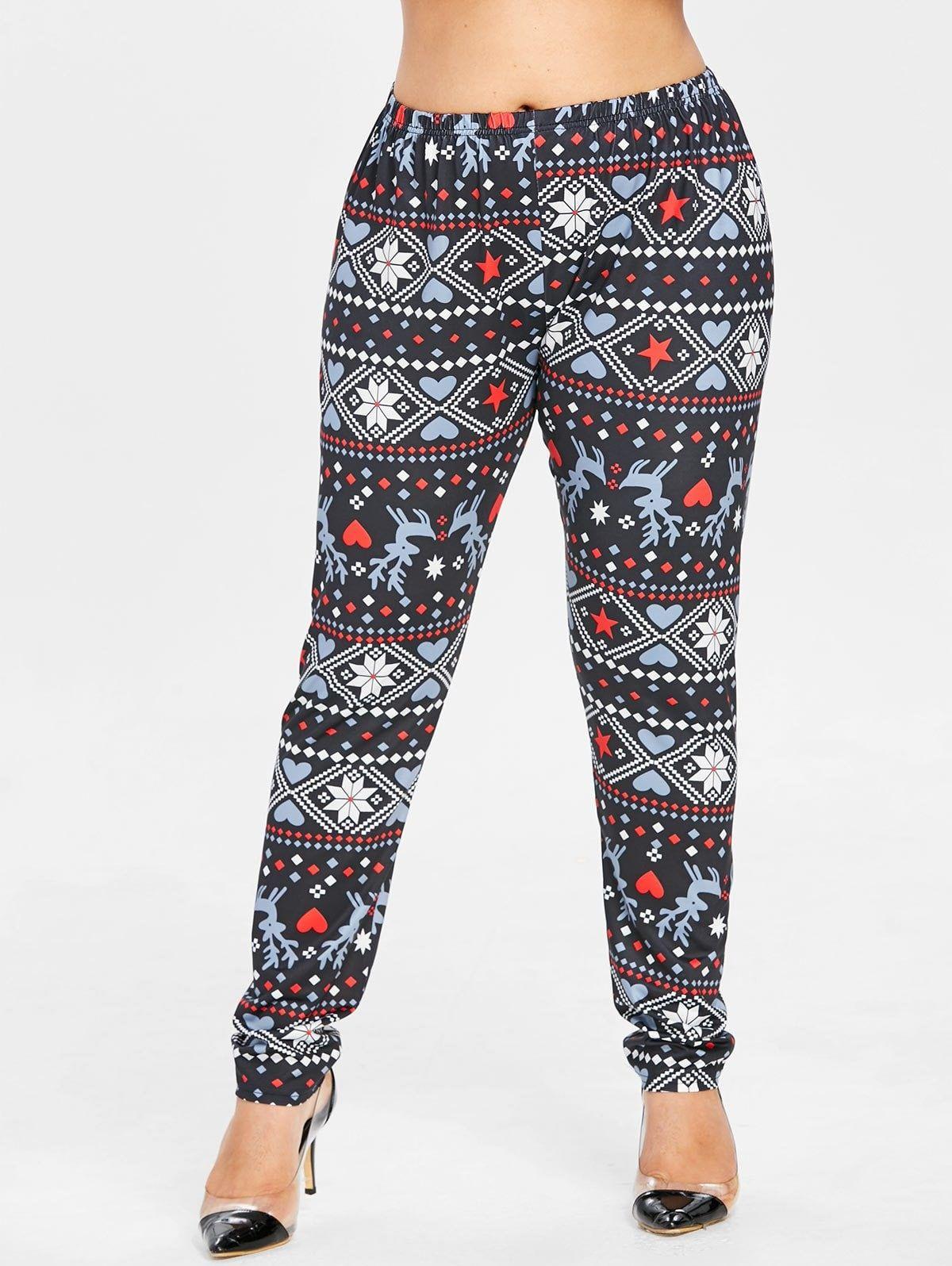7879f0dfa58453 Plus Size Elk Christmas Leggings in 2019 | Plus Size Fashion ...