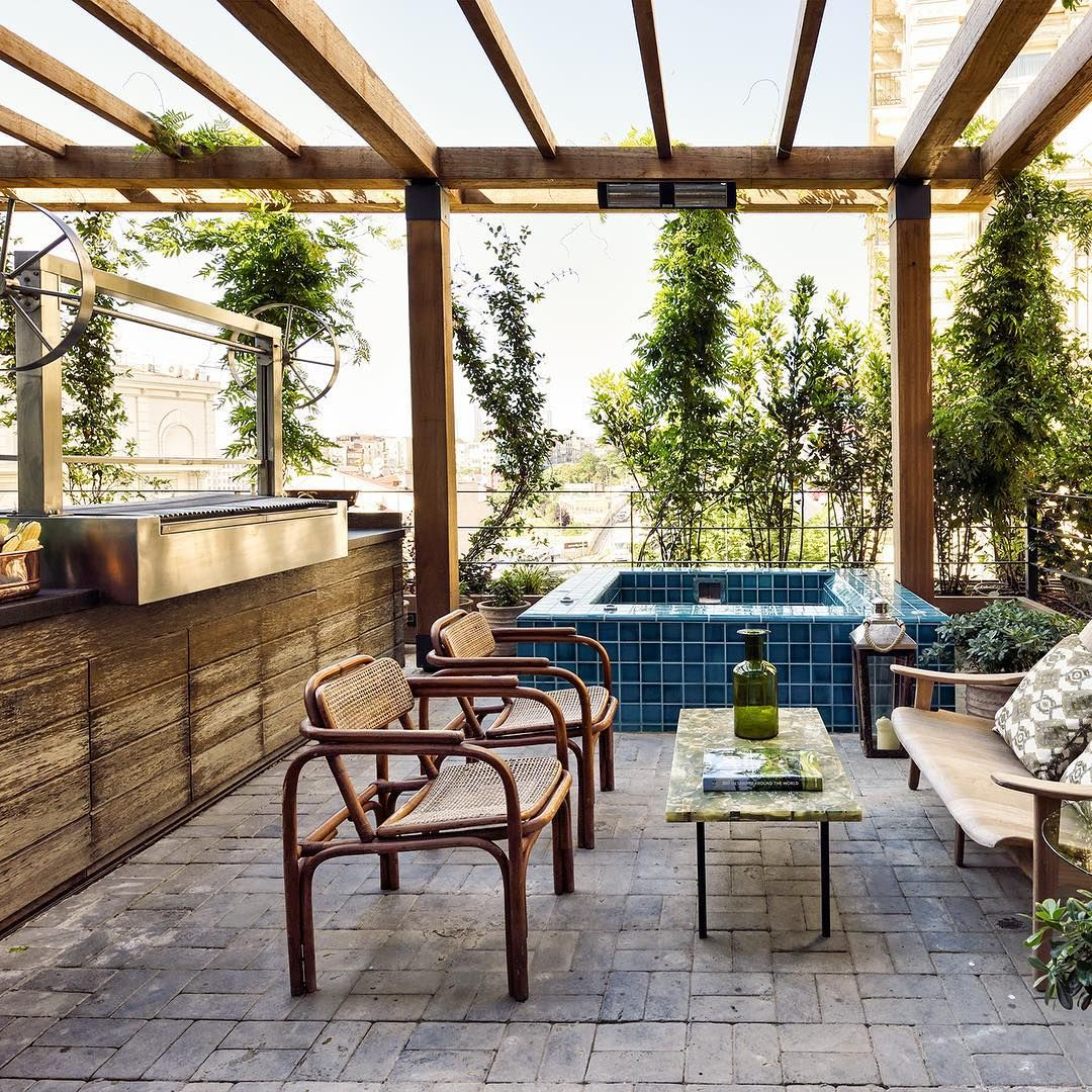 Outdoor Jacuzzi And Bbq The Apartment At Soho House Istanbul Sohohouse