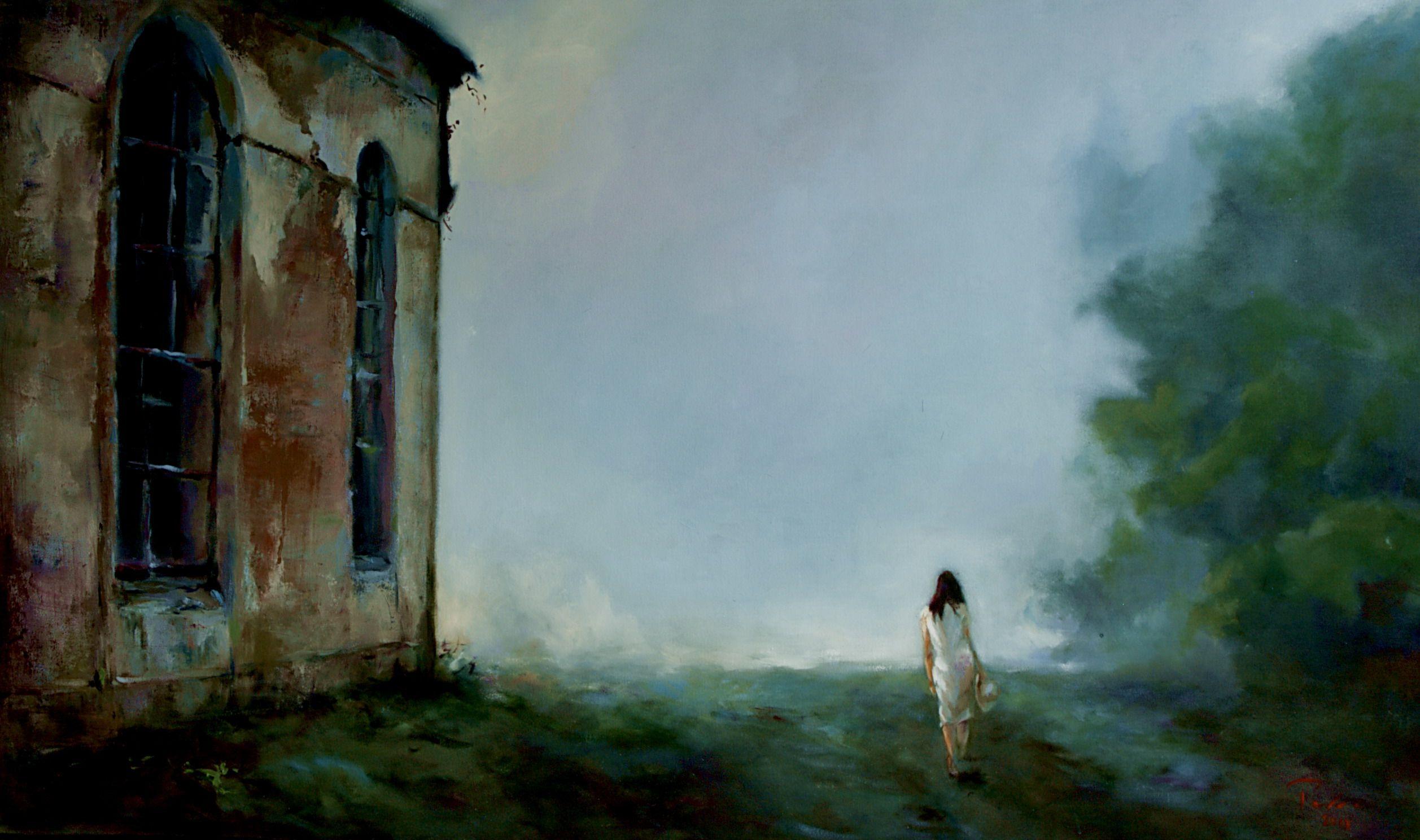 "Séries: ""TRANSITORIEDADE""  Series: ""TRANSIENCE"" - Oil on canvas - 76x142 cm - 2013 Artist: Fernando Palma"