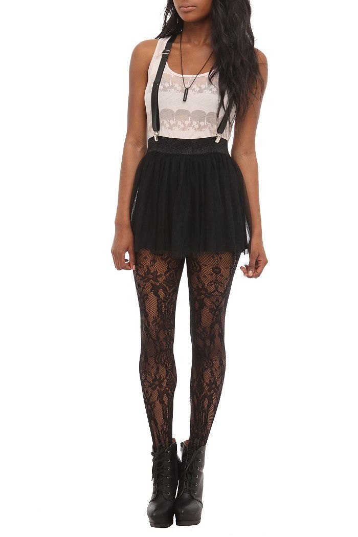 abbey dawn black suspender skirt $18.38 | Hot Topic
