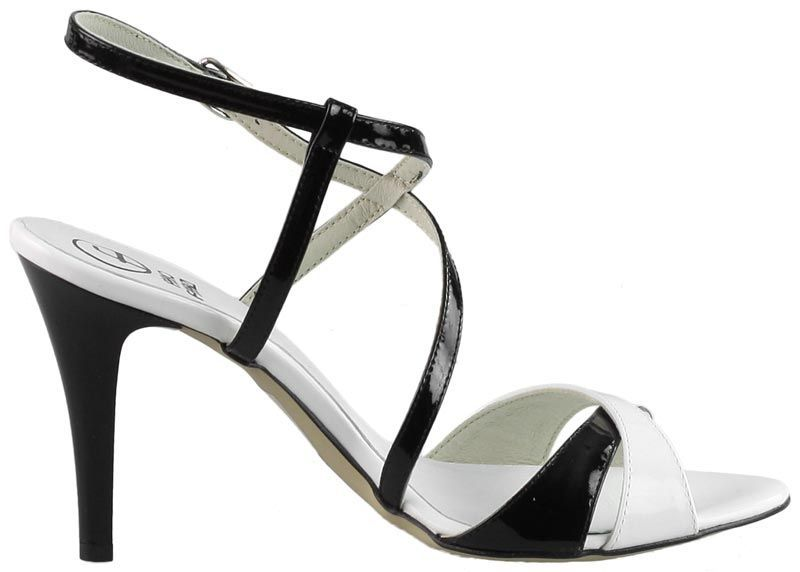 Sandaly Fabio Fabrizi 649 Czarne Biale R 37 5561126846 Oficjalne Archiwum Allegro Shoes Sandals Fashion