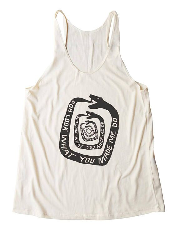 6054e9f13419f5 Look What You Made Me Do Top Music Tank Snake Top Fitness Tanks yoga tank  exercise