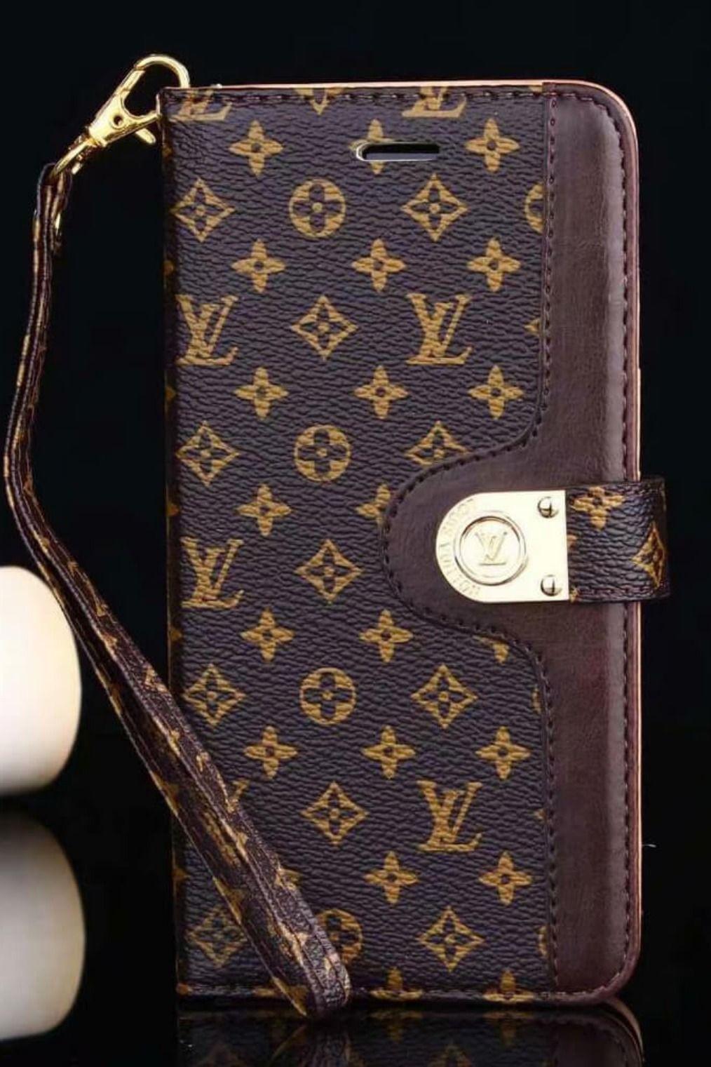 Lv iphone case brown 11 pro xs max xr 8 plus luxury wallet