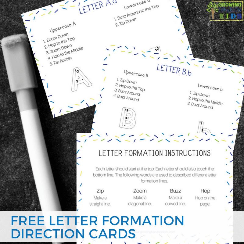 Letter Formation Direction Cards Free Digital Download