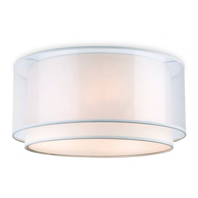 Chicago Semi Flush Cream Ceiling Light