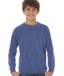 3483 Chouinard Youth Long Sleeve Tee Blue Jean Pgmdye Long