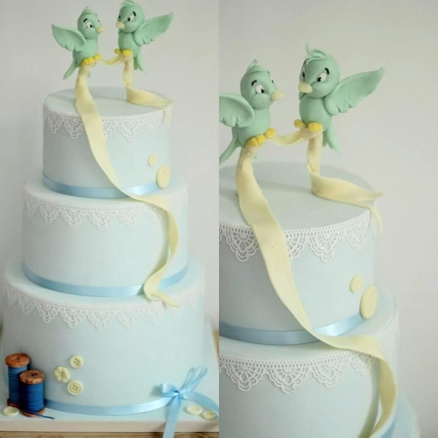 Cinderella inspired wedding cake with flying birds - Cake by Sweet ...