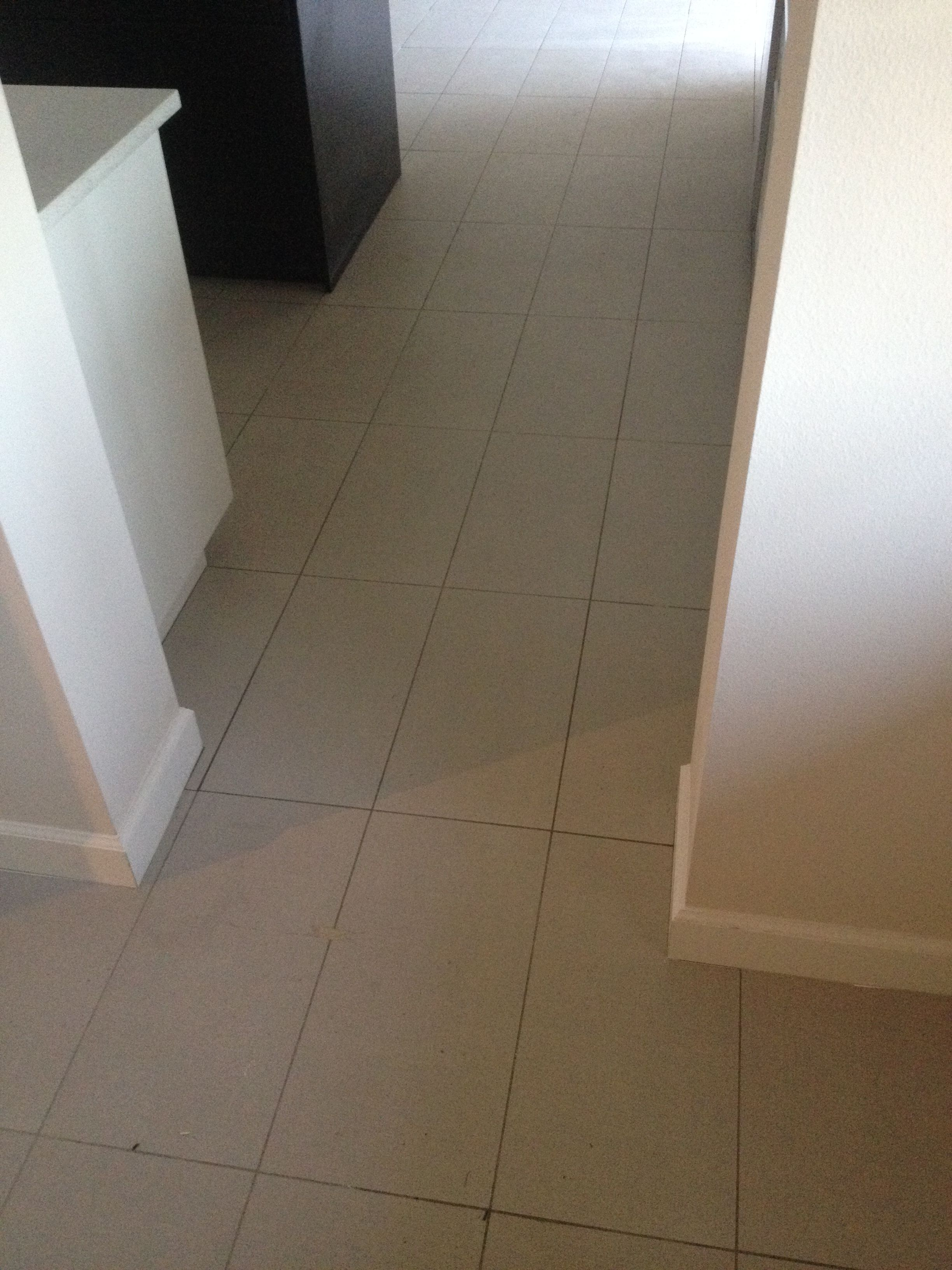 12 X 24 Porcelain Tile Straight Lay Stack Bond Tile Floor 12x24 Tile Tiled Hallway
