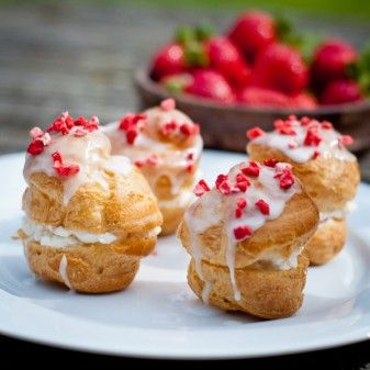 Strawberry cream puffs   eat. live. travel. write.