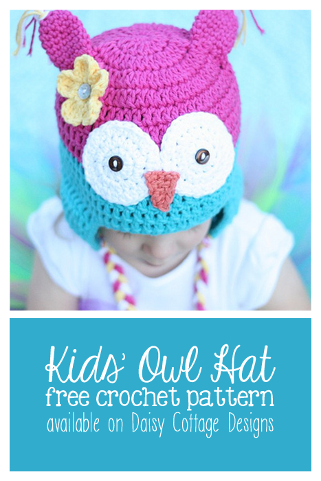 Free Owl Hat Crochet Pattern | Patrones de crochet, Patrones y Gorros