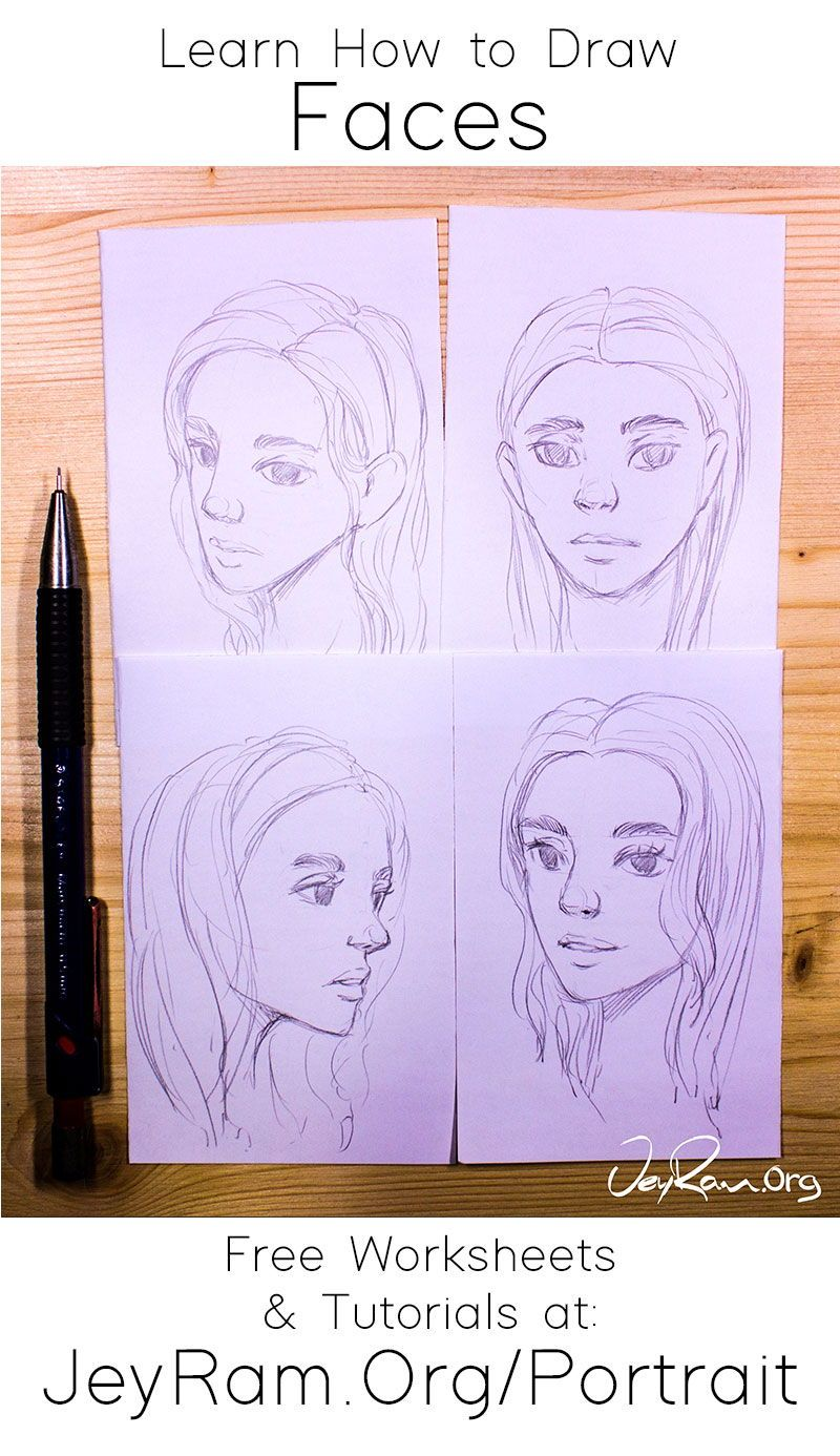 How To Draw Faces Tutorial Series In 2020 Face Drawing Drawing Tutorial Drawings