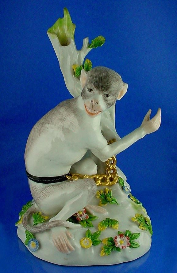 Rare Antique Mid 19th Century French Or German Hand Painted Porcelain Figurine Of A Sitting Monkey Fr Porcelain Painting Hand Painted Porcelain Hand Painted